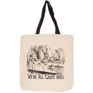 NEW Mad Tea Party Alice in Wonderland Tote Bag